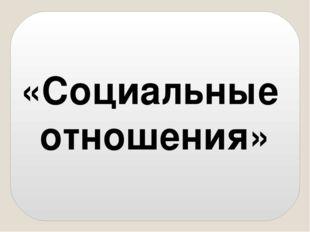«Социальные отношения»