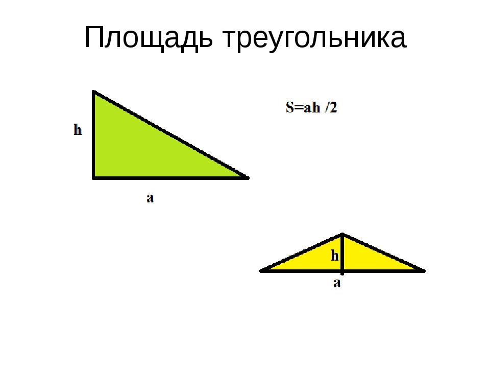 Площадь треугольника