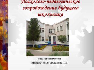 Психолого-педагогическое сопровождение будущего школьника педагог-психолог: М