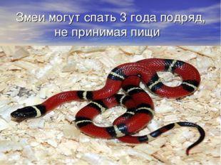 Змеи могут спать 3 года подряд, не принимая пищи