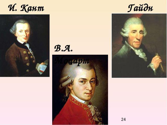 И. Кант Гайдн В.А. Моцарт