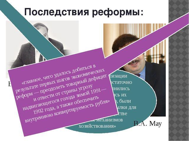 Последствия реформы: «благодаря либерализации магазины страны в достаточно ко...