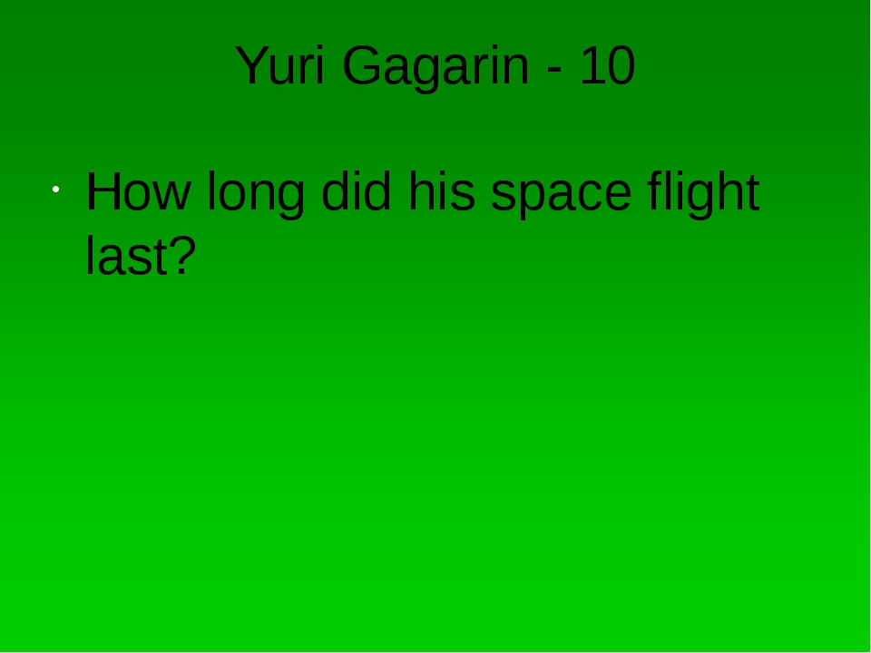 Yuri Gagarin - 30 What was the name of his spaceship?