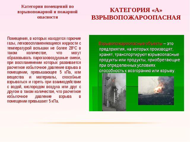 Помещения, в которых находятся горючие газы, легковоспламеняющиеся жидкости с...