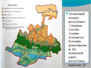 Почвенный покров республики Северная Осетия-Алания отличается большим разноо
