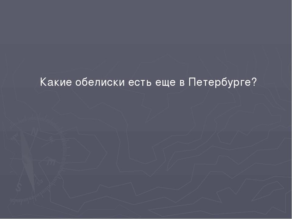 Какие обелиски есть еще в Петербурге?