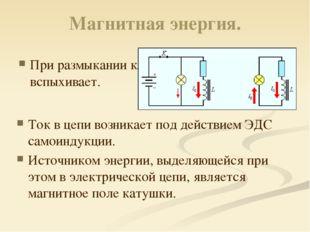 Магнитная энергия. Из закона сохранения энергии следует, что вся энергия, зап