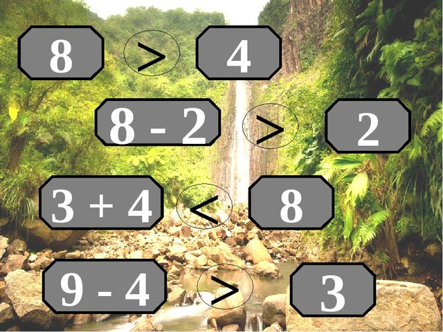 4 8 8 - 2 2 3 + 4 8 9 - 4 3 > > < >