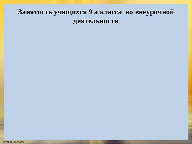 Занятость учащихся 9 а класса во внеурочной деятельности FokinaLida.75@mail.ru