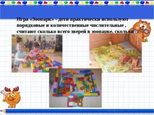 Игра «Зоопарк» - дети практически используют порядковые и количественные чис