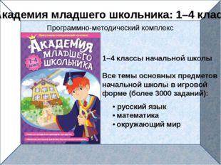 1–4 классы начальной школы Все темы основных предметов начальной школы в игр