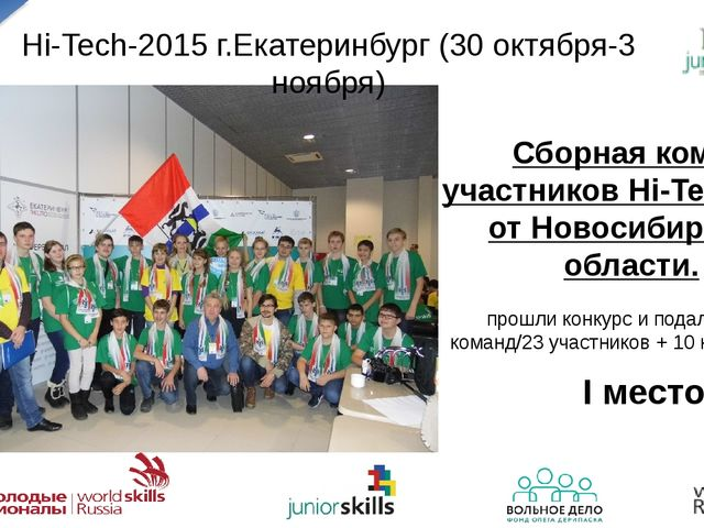 Hi-Tech-2015 г.Екатеринбург (30 октября-3 ноября) Сборная команда участников...