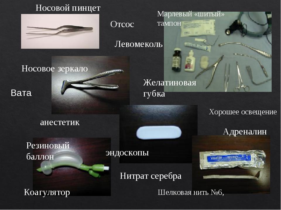 Отсос Хорошее освещение анестетик Нитрат серебра Шелковая нить №6, Желатинова...