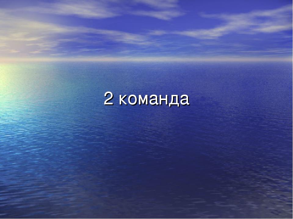 2 команда