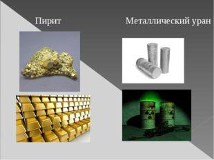 Пирит Металлический уран