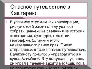 Опасное путешествие в Кашгарию. В условиях строжайшей конспирации, рискуя сво