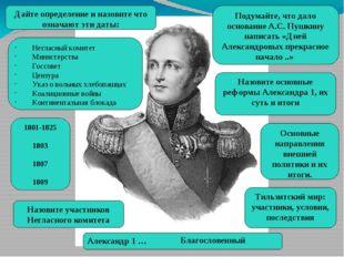 «Дней Александровых прекрасное начало» Начало правления Александра I подарило