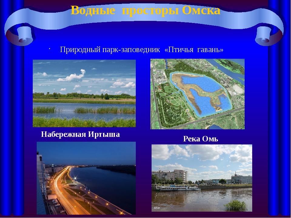 Водные просторы Омска Природный парк-заповедник «Птичья гавань» Набережная Ир...
