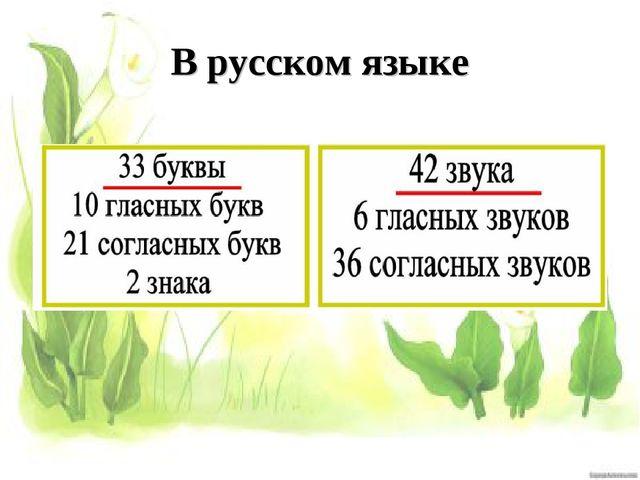 В русском языке