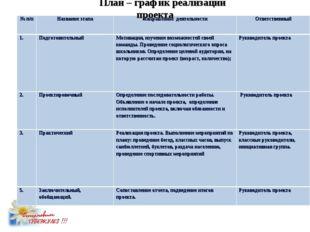 План – график реализации проекта № п/пНазвание этапаНаправление деятельност