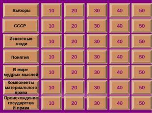 10 СССР Известные люди Понятия В мире мудрых мыслей Компоненты материального