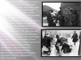 Ленинград представлял собой второй по значению город в СССР с населением окол