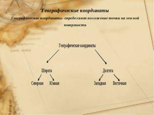 Географические координаты Географические координаты- определяют положение точ