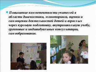 Повышение компетентности учителей в области диагностики, мониторинга, оценки
