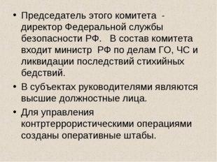 Председатель этого комитета - директор Федеральной службы безопасности РФ. В