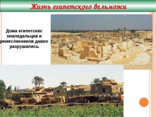 Жизнь египетского вельможи Дома египетских земледельцев и ремесленников давно
