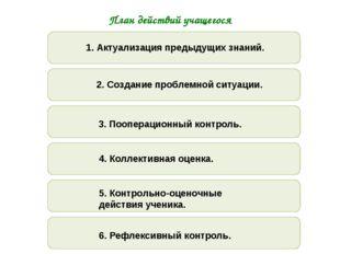 План действий учащегося 1.1.1. 1. Актуализация предыдущих знаний. 1.1.1. 1.1.