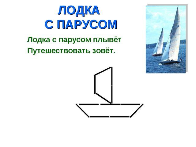 ЛОДКА С ПАРУСОМ Лодка с парусом плывёт Путешествовать зовёт.