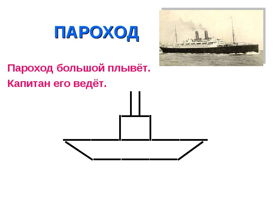 ПАРОХОД Пароход большой плывёт. Капитан его ведёт.