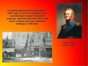 В период правления Александра I в 1803 году в Санкт-Петербурге была организов
