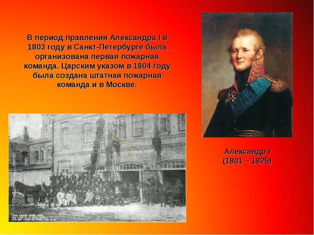 В период правления Александра I в 1803 году в Санкт-Петербурге была организов...