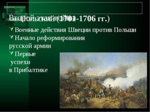 Второй этап войны Военные действия Швеции против Польши Начало реформировани