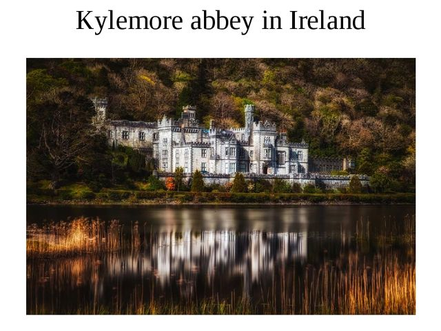 Kylemore abbey in Ireland