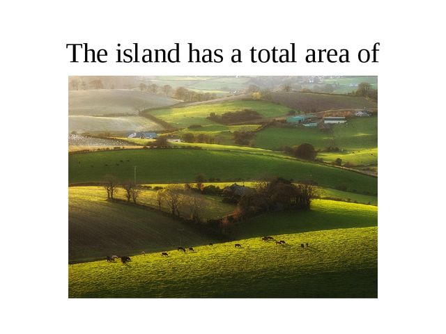 The island has a total area of 84,421 km2.