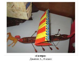 «Галера» Джапов А., 8 класс