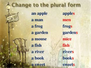 an apple a man a frog a garden a mouse a fish a river a book a sweet apples m