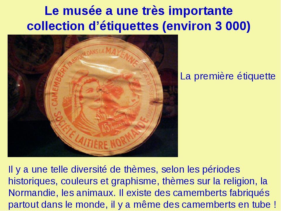 Le musée a une très importante collection d'étiquettes (environ 3 000) Il y a...