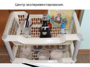 Центр экспериментирования.