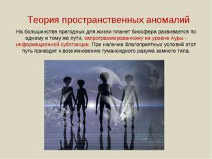 Теория пространственных аномалий На большинстве пригодных для жизни планет би