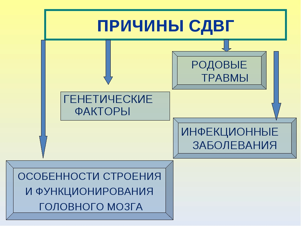 ПРИЧИНЫ СДВГ ГЕНЕТИЧЕСКИЕ ФАКТОРЫ РОДОВЫЕ ТРАВМЫ ИНФЕКЦИОННЫЕ ЗАБОЛЕВАНИЯ ОСО...