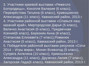 3. Участники краевой выставки «Ремесло Богородицы», Конопля Валерия (6 класс)