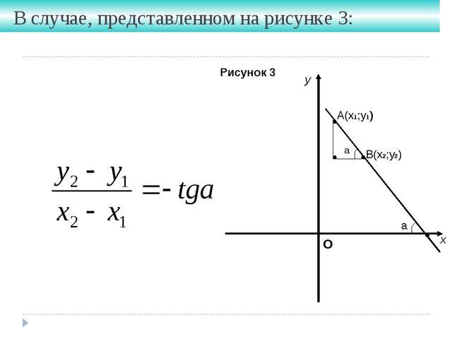 В случае, представленном на рисунке 3: Рисунок 3