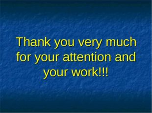 Thank you very much for your attention and your work!!!