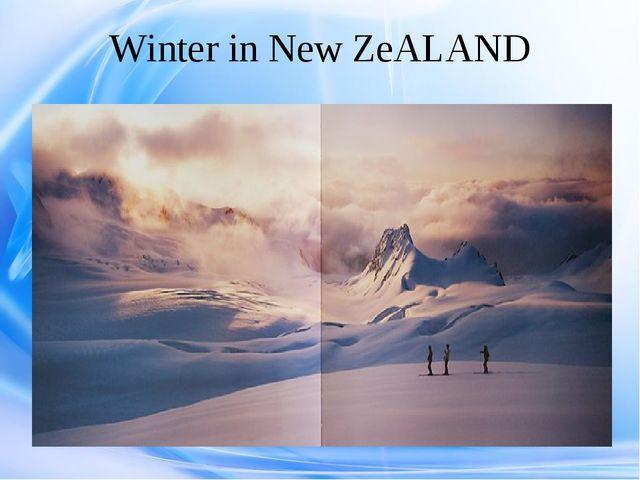 Winter in New ZeALAND