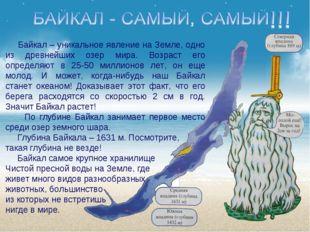 Байкал – уникальное явление на Земле, одно из древнейших озер мира. Возраст