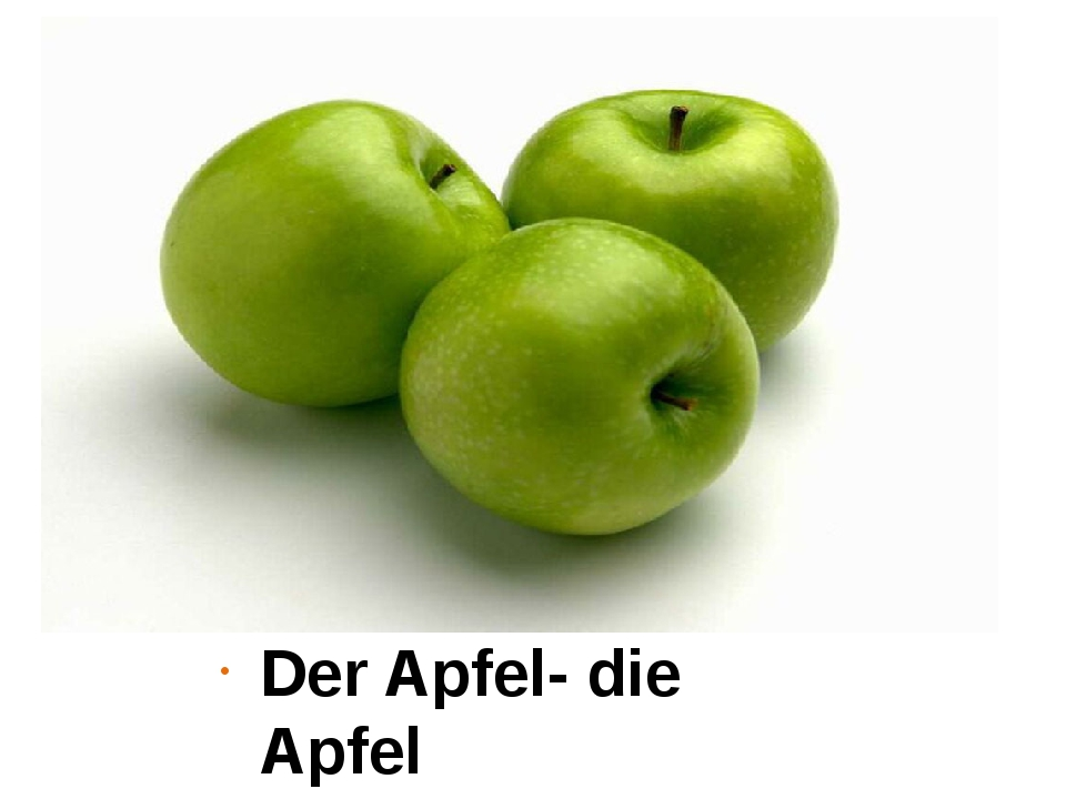 Der Apfel- die Apfel